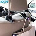 2 pc/lot Accesorios Interiores Del Coche Bolsas de Auto Asiento Portable luces led Monedero Del Bolso gancho de la Suspensión Titular Organizador Holder Car Styling