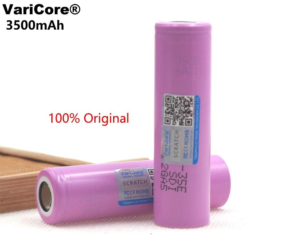 VARICORE 35e original power lithium battery 18650 3500mAh 3.7V rechargeable battery 18650