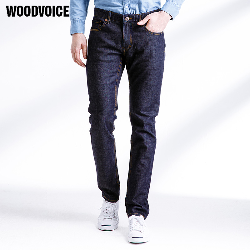 2017 Woodvoice New Mens Jeans Stretch Denim Large Big Size Jeans Work high quality fashion straight male pants denim Trousers 28 brand mens jeans high quality men s camouflage straight stretch pants denim trousers size 38 40 jeans for men a989