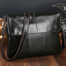 Briefcase Office Bags Cover Shiny Real Leather Business Affairs Men's Crossbody Male Bag Portfolio Shoulder Bags Man Messenger