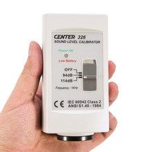 CENTER-326 dokładne oferty proste poziomu dźwięku kalibrator (94dB 114dB) miernik poziomu dźwięku dokładne oferty i prosty w użyciu tanie tanio 30 ~ 130dB MiSery