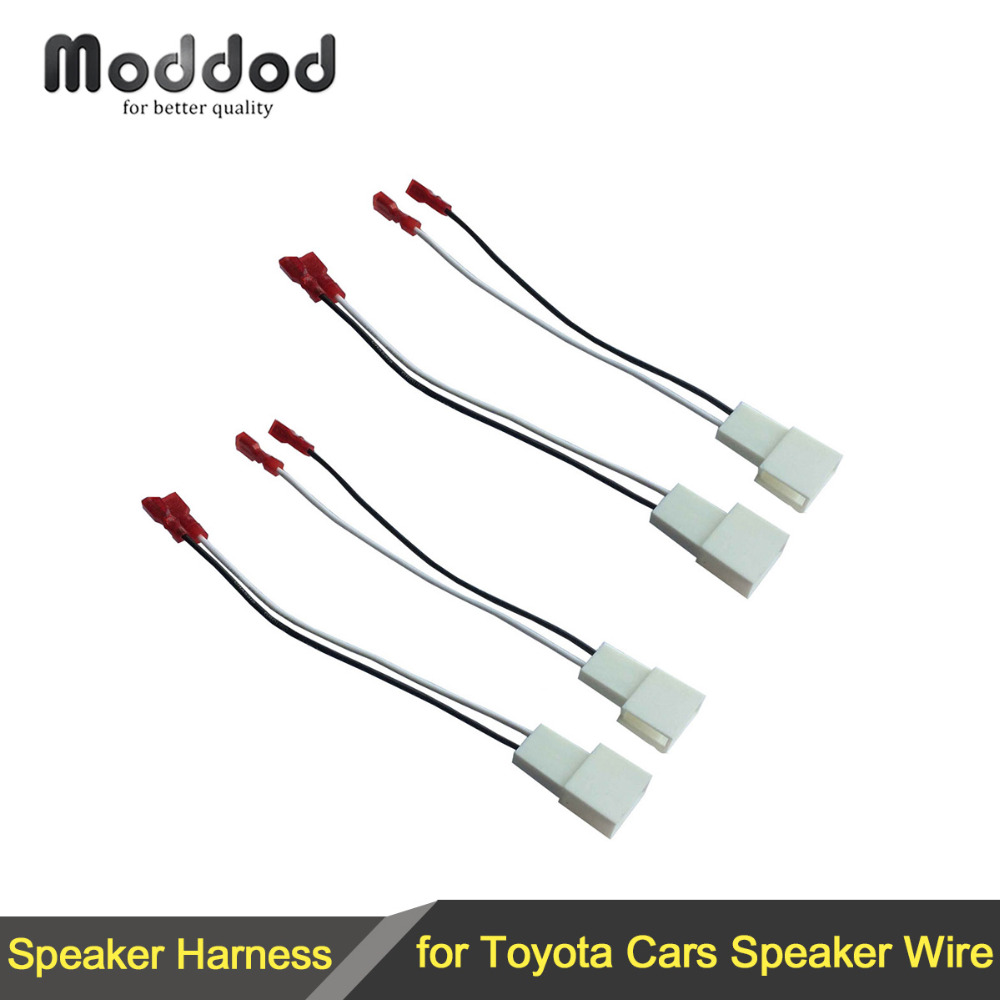 2 x pairs wire cable wiring harness for toyota scion ponitac lexus vehicles speakers adapter connector [ 1000 x 1000 Pixel ]