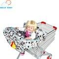 Multifunción bebé carro de compras plegable cubierta dots Azul rosa de seguridad Fácil de llevar para los niños niño asiento de la silla paño proteger