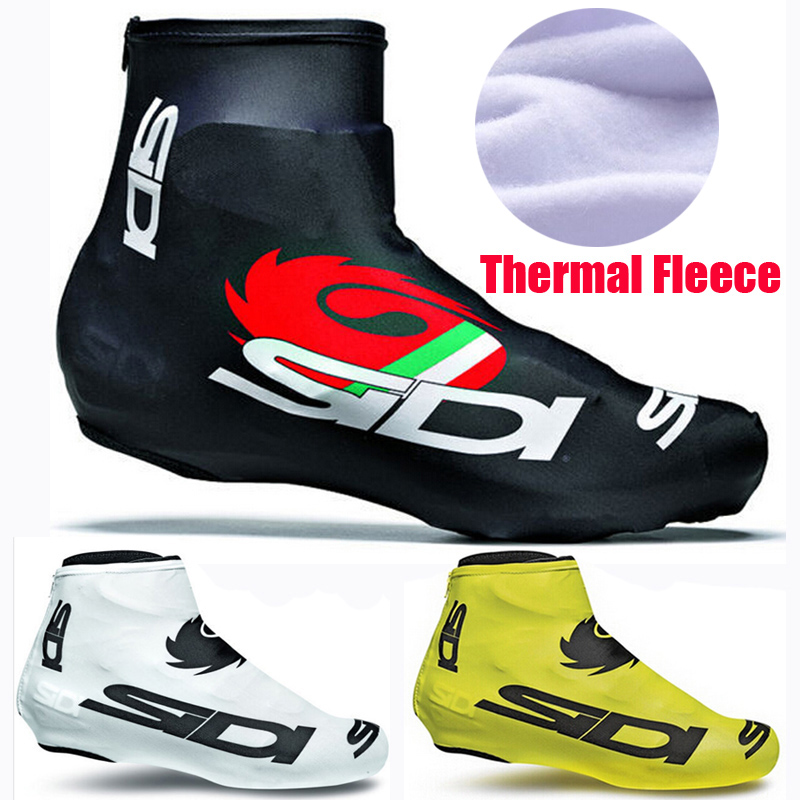 1 pair Cycling Shoe Covers Fleece Thermal Warm Man Woman Overshoes Road Bicycle Bike MTB Winter Cycling Shoe Cover