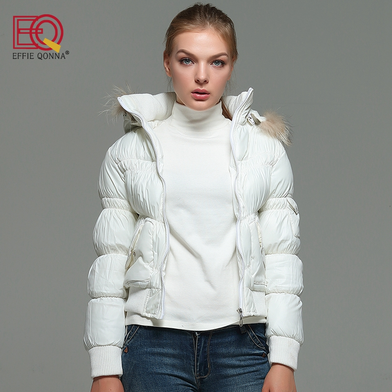 EFFIE QONNA 2017 New Fashion Winter Long Sleeve Women Short Parkas Female Spring Fall outwear Coffee Slimming Ladies Tops Coats frank buytendijk dealing with dilemmas where business analytics fall short
