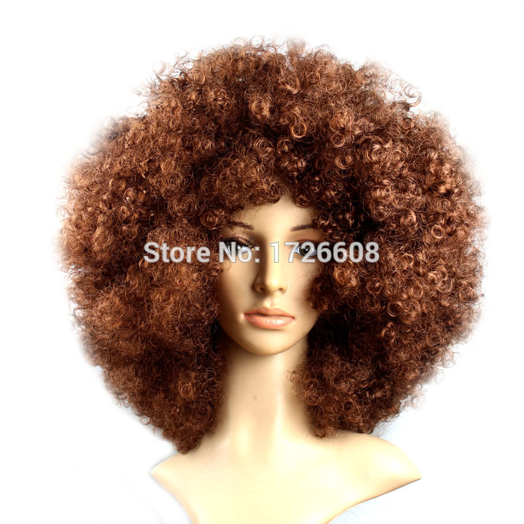 Short Peruke Afro Wigs Halloween Party Dress Funny Clown Wig Props Large Popcorn Party Hats Festival Cosplay Synthetic Hair Wig gorros femininos
