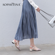 SOPHITINA 2019 Spring New Slip-on Pumps Kid Suede Individual Heel Fashion Woman Shoes Elegant Peal Decoration Party PO140