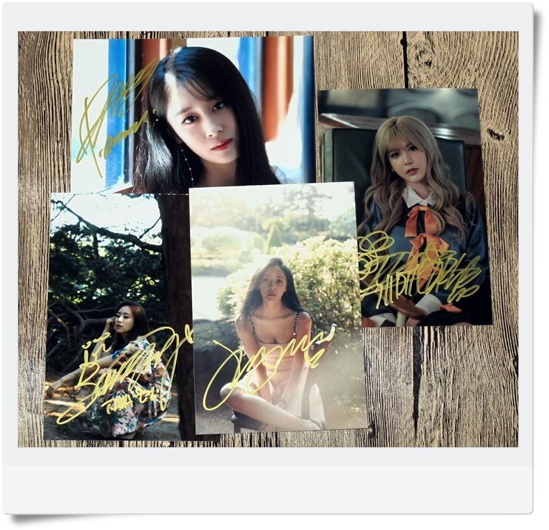 T-ARA TARA Ji Yeon EN jung Hyomin  Autographed Photo What's my name 4 photos set 4*6 free shipping  062017C signed tfboys jackson autographed photo 6 inches freeshipping 6 versions 082017 b