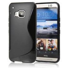 Soft S Line TPU Gel Skin Transparent Cover Case For HTC One M9 Protective Phone Bags