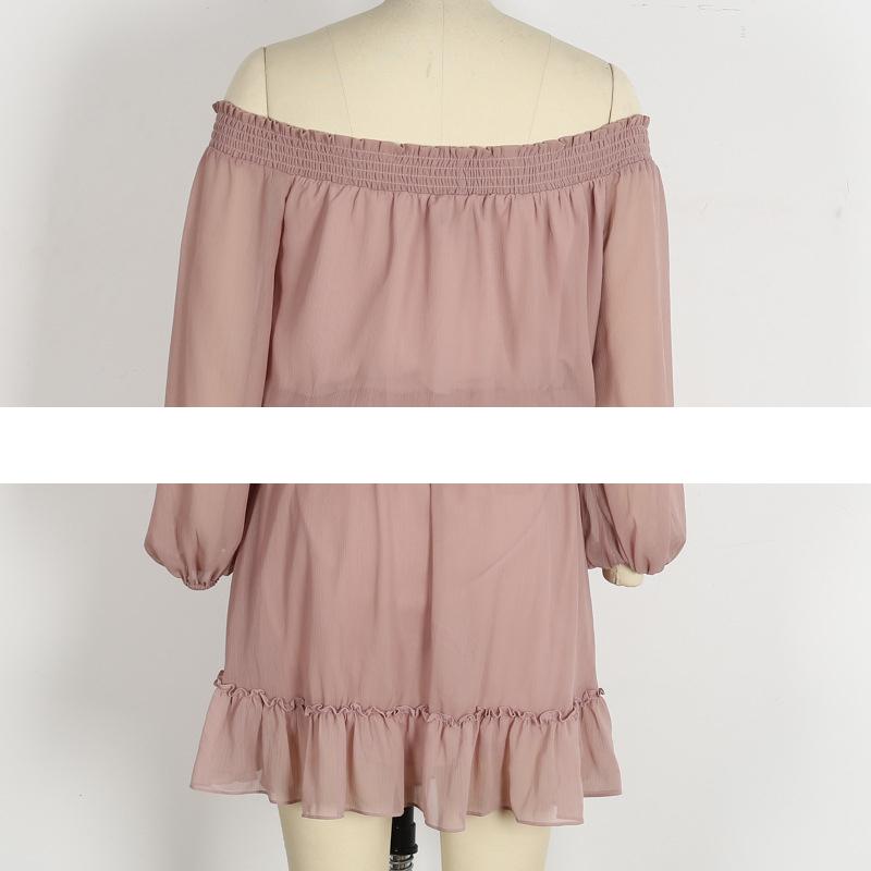 HTB14vGvPFXXXXcLXFXXq6xXFXXXM - FREE SHIPPING Long Sleeve sexy off shoulder V enck Ties Dress JKP289