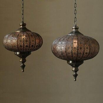 Креативные индивидуальные подвесные лампы, ресторанов, Интернет-кафе, железный, в деревенском стиле, жизнь черный, декорированный кулон, ла...