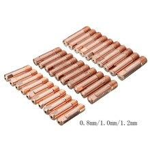 10 шт./упак. проводящее сопло 0,8 мм MB-15AK типа для сварки MIG/MAG M6 сварки фонарь контактные наконечники держатель газовое сопло части набор инструментов