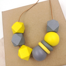 Wooden Abstract Necklace