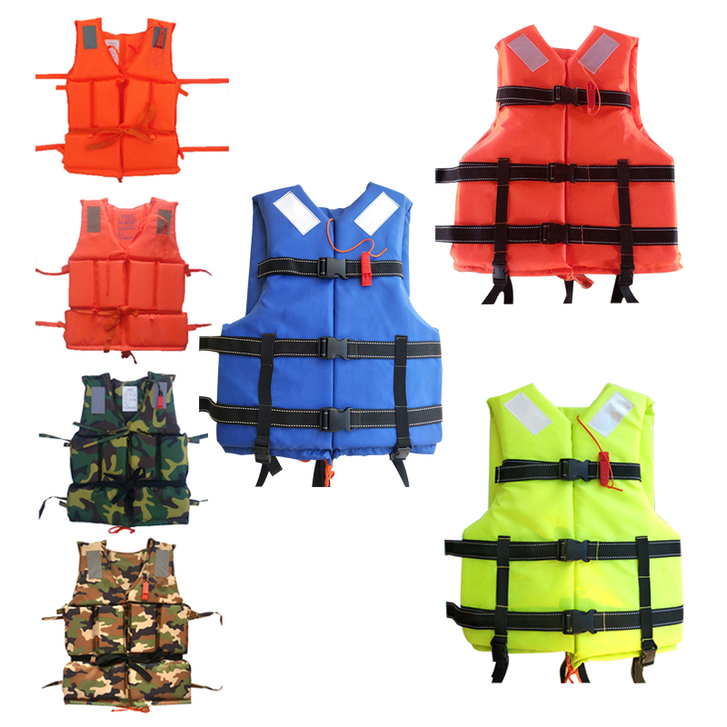 2018 Professional Man Life Jacket Buoyancy Swimming Boating Safety Women Survival Life Vest Whistling Drifting For Kids Adult