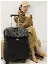Brand Women carry on Luggage bag Cabin travel Trolley Bags on wheels rolling luggage bag for women Trolley Suitcase wheeled Bag(China)