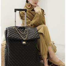 Brand Women carry on Luggage bag Cabin travel Trolley