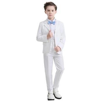 cf82f1f11 2018 nueva moda Blanco Negro bebé niños traje niños blazers niño traje para  bodas graduación formal primavera otoño vestido de boda niño trajes