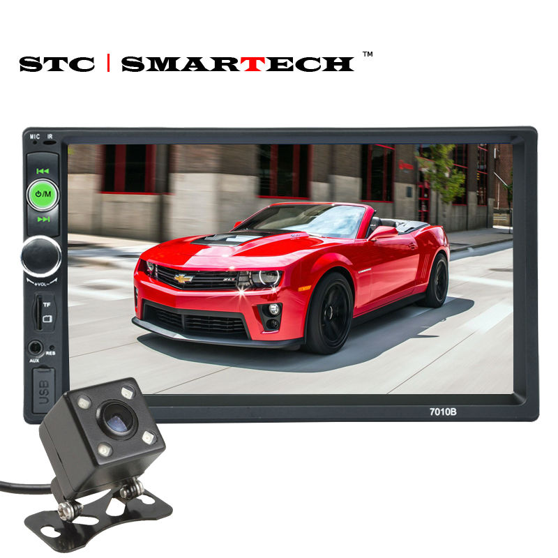 Car stereo Radio Head Unit Car MP4 MP5 Player With 7 inch TFT Screen Bluetooth Hands-free Rear View Camera Micro SD USB AUX-IN rs 1010bt car bluetooth hands free stereo mp3 player