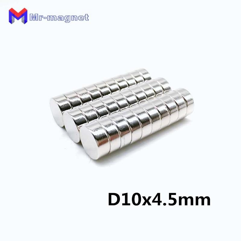Willensstark 50 Stücke Standard N40 10x4,5 Magnet 10x4,5mm Super Starke D10x4.5 Magneten N35 D10x4.5mm 10*4,5 Permanent Magnet 10*4,5mm Hardware Heimwerker
