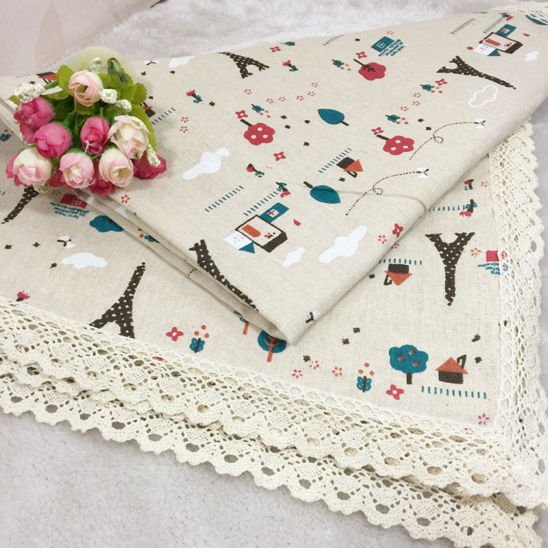 Table Cloth Garden Lace Edge Tablecloth Style Cotton Tower Cartoon European Table Cover Rectangular