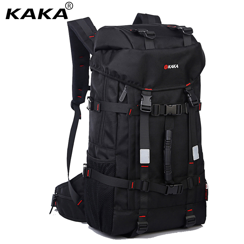 New KAKA Brand Large Capacity Travel Backpack Shoulder Bag Men Mountaineering Bags 55L Oxford Lockable Waterproof Luggage Bags 80l professional mountaineering bags large capacity backpack waterproof wear travel bags