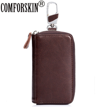 COMFORSKIN Brand High Quality Split Leather Car Key wallet Unisex Multinational Holder Fashion Design Coin Purses 2017 Hot