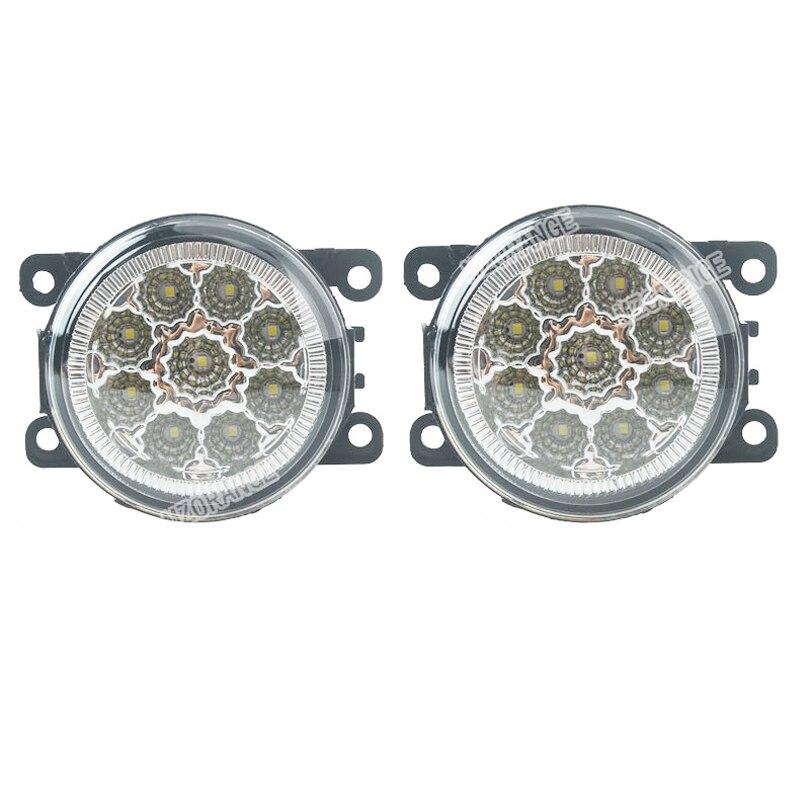6000K 12V autóstílusú DRL ködlámpa-világító LED-es lámpák a Mitsubishi L200-hoz OUTLANDER 2 PAJERO 4 GALANT Grandis 9W / 1 SET