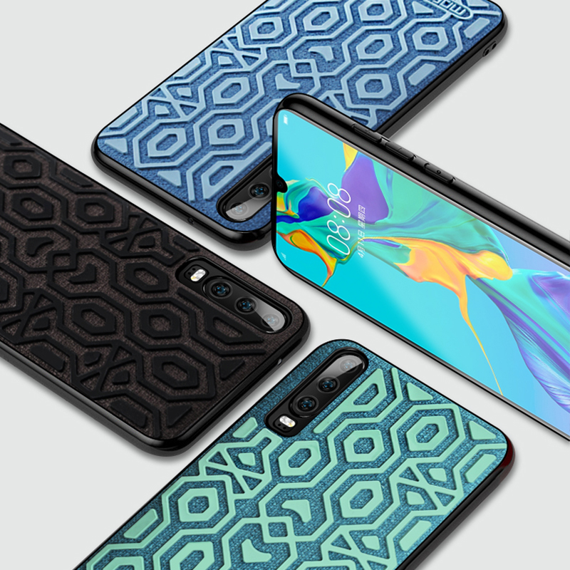 For Huawei P30 case cover Huawei P30 Pro protective silicone skid proof cloth protect phone capas fundas P30 cases MOFi original in Fitted Cases from Cellphones Telecommunications