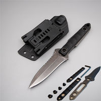Improved handmade 58 60 Hrc knife straight diving D2 hunting fixed blade G10 handle kydex army survival outdoor camping knife