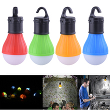 Portable Night Light Outdoor Hanging LED Camping Lantern Tent Light AAA Battery LED Bulb for Hiking Reading Fishing недорого