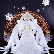 Card Captor Sakura Tomoyo Daidouji cosplay costume Snow Angel daidouji dress comics cosplay