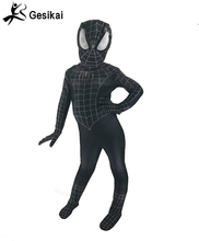 24 Hrs Shipped Out Kids Black Spiderman Costume 3D Printed Kids Spandex Spiderman Jumpsuit For Halloween