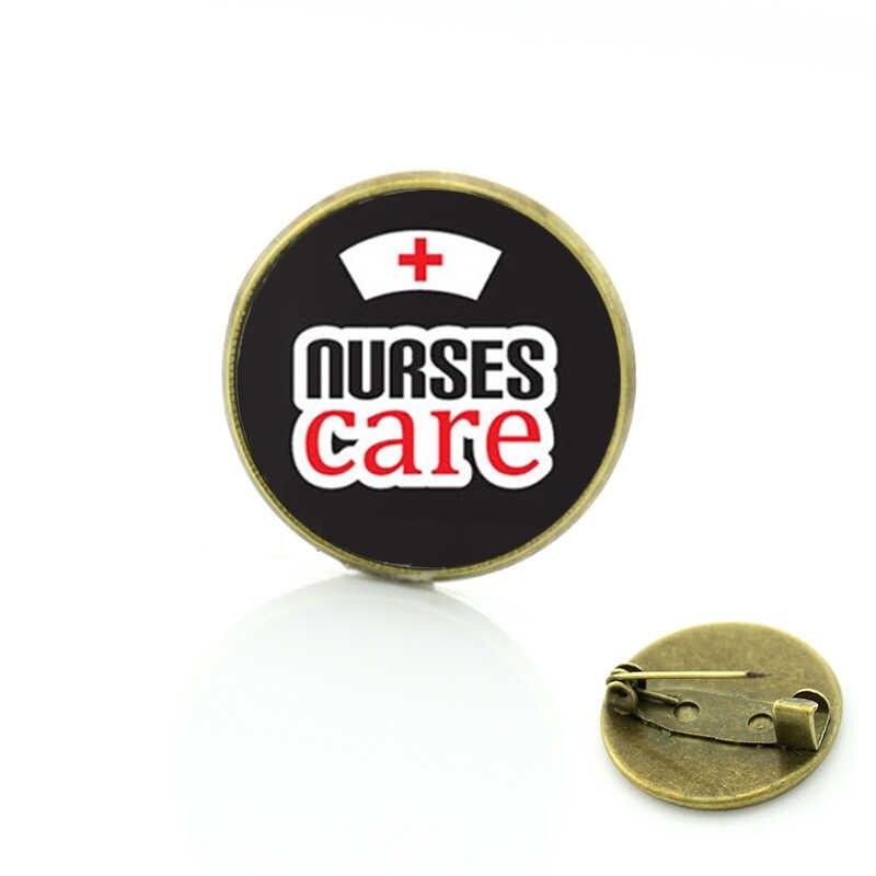 TAFREE vintage di chiamata Infermiera i colpi di vetro cabochon spille modo di salvare vite umane di arte infermieri cura distintivo spilla pins gioielli CT191