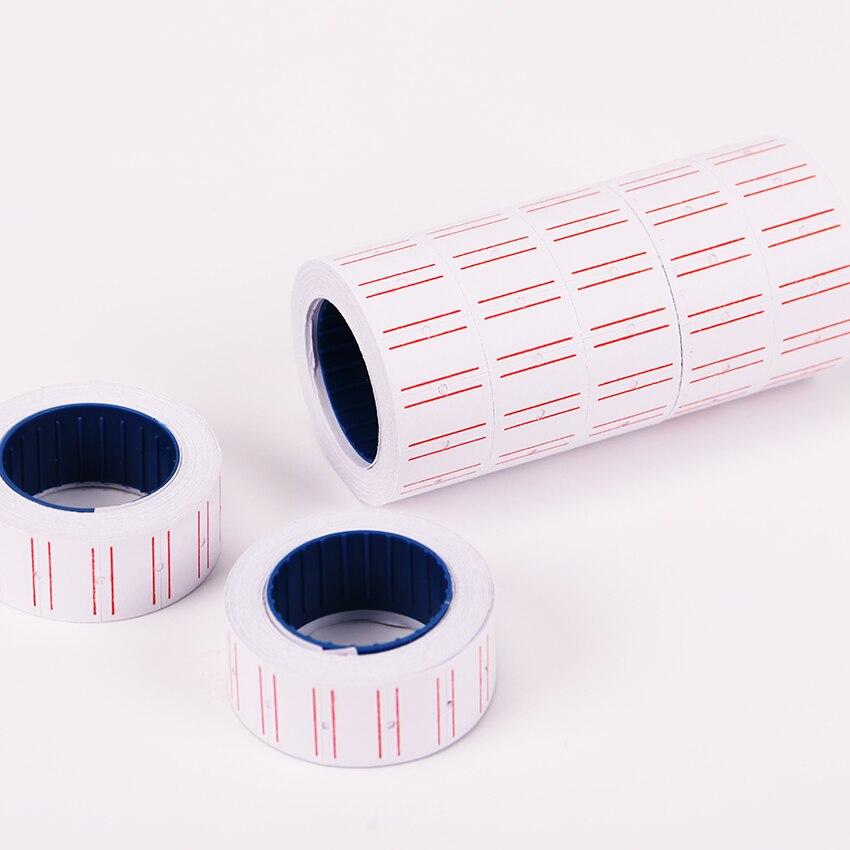 1 шт. высокое качество Rolls белый клей ценники Бумага канцелярские Стикеры s тег знак Стикеры для школы канцтоваров