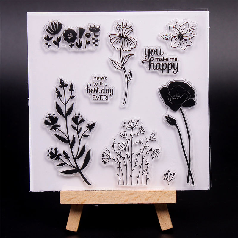 Cute Transparent Clear Silicone Stamps for DIY Scrapbooking Card Making diy photo Decorative Letter Beautiful gifts Text Stempel