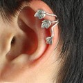 E316 hot new style fashion wind leaves ear cuff clip earrings jewelry accessories Free Shipping
