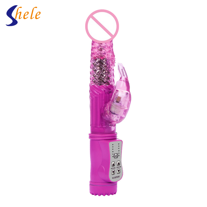 1PC Rotation Vibration Rabbit Vibrators G Spot Vibrator Clitoris Stimulator Masturbation Device Sex Toy For Women