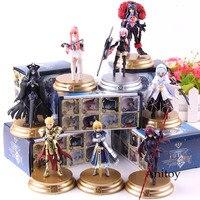 8pcs/set Fate Grand Order Duel FGO Collection Figure Saber Scathach Mash Merlin Medb Model Gilgamesh Figure Action Toys