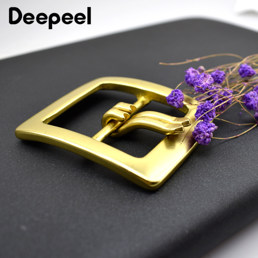 40mm Fashion Solid Brass Men's Belt Buckle Double Pin Buckle Square Shape Buckle Belt Buckle Head F1-87