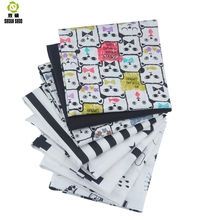 Shuanshuo Black Mix Color Patchwork Tissue Cloth Of Handmade DIY Quilting Sewing Baby&Children Sheets Dress 40*50cm 8pcs/lot