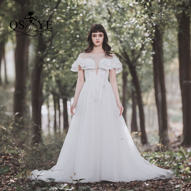 qsyye 2019 real photo princess wedding bridal dress