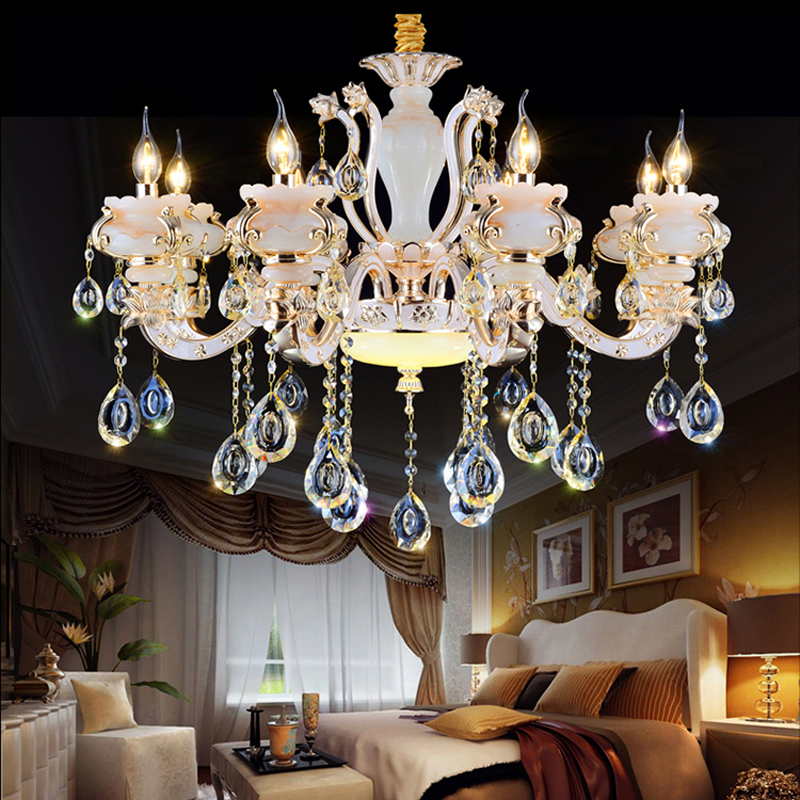 Luxury Crystal Chandeliers Living Room Crystal Beads For Chandeliers Traditional Crystal Bedroom Lamp Crystal Pendant Chandelier