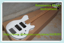 New Arrival China OEM 5 String Music Man Reflex Electric Bass Guitar In Glossy White Free Shipping