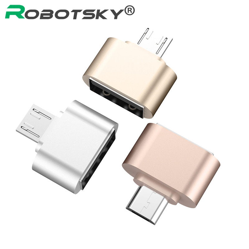 Robotsky Micro USB OTG Cable Male To USB 2.0 Female Converter Adapter Cable Code For Samsung LG Huawei Xiaomi HTC