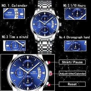 Image 5 - Olmeca relógio militar relogio masculino relógios à prova dstainless água aço inoxidável moda cronógrafo relógio de pulso relógios para homem azul
