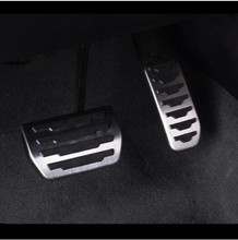 2pcs Stainless Steel Accelerator Brake Pedal Decoration Decals For Jaguar XE F-PACE X761 Car Interior Accessories стоимость
