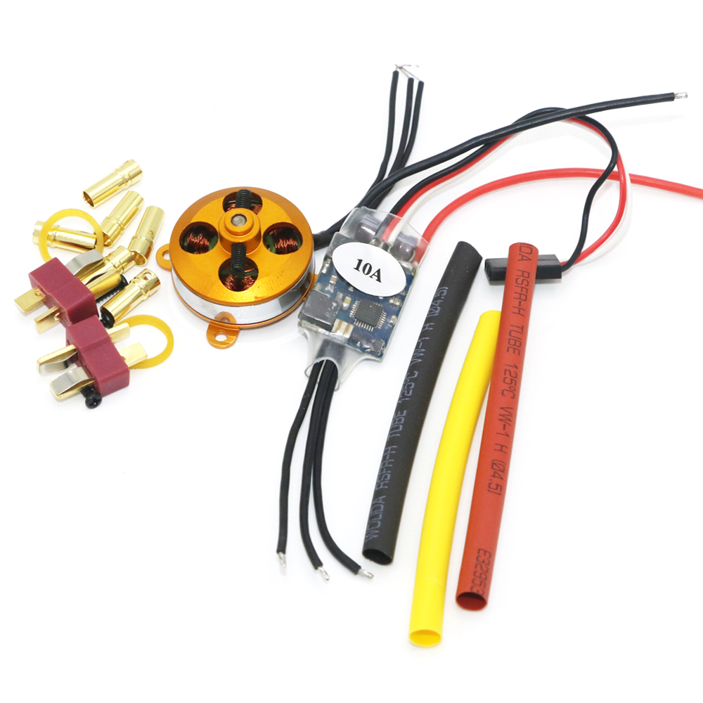 A 2204 A2204 7 5A 1400KV 50W SP Micro Brushless Motor W Mount 10A ESC For RC Aircraft KK copter Quadcopter UFO in Parts Accessories from Toys Hobbies