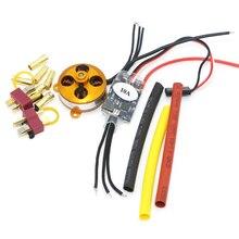 Um 2204 a2204 7.5a 1400kv 50w sp micro motor sem escova com montagem + 10a esc para rc aircraft/kk helicóptero quadcopter ufo