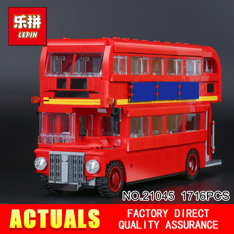 New LEPIN 21045 1716Pcs Creator Camper Bus Model font b Building b font Kits Bricks Toys