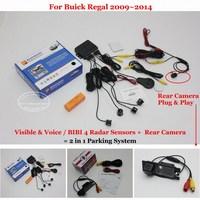 Liislee Rear View Back Up Camera + Car Parking Sensors = 2 in 1 Visual / For Buick Regal 2009~2014 / BIBI Alarm Parking System